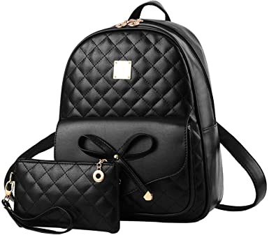 Amazon.com: I IHAYNER Girls Bowknot 2-PCS Fashion Backpack Cute .