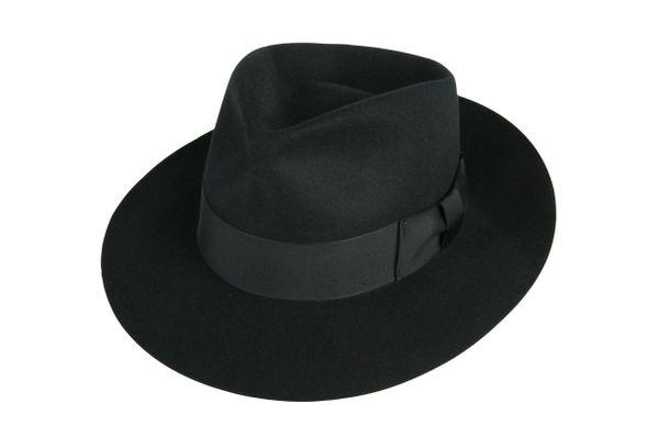 black jackson fedora, black fedora, black fedora hat, fedoras .