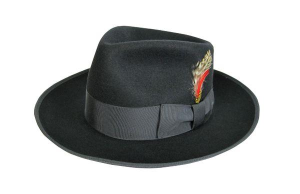black zoot fedora, black fedora, black fedora hat, fedoras .