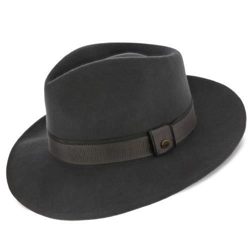 Tampa Walrus Hats Grey Center Dent Wool Felt Fedora H