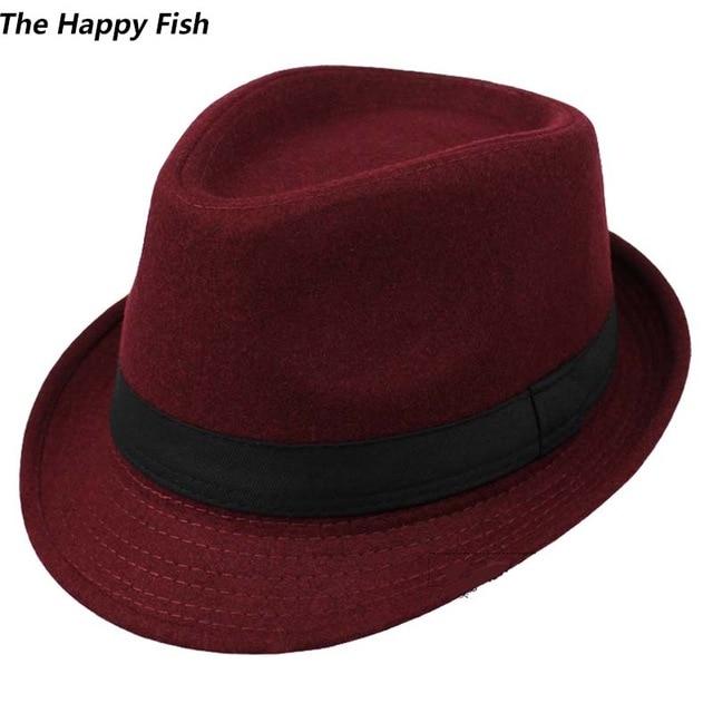 Original Unisex Structured Wool Fedora Hat Fedora hats for men .