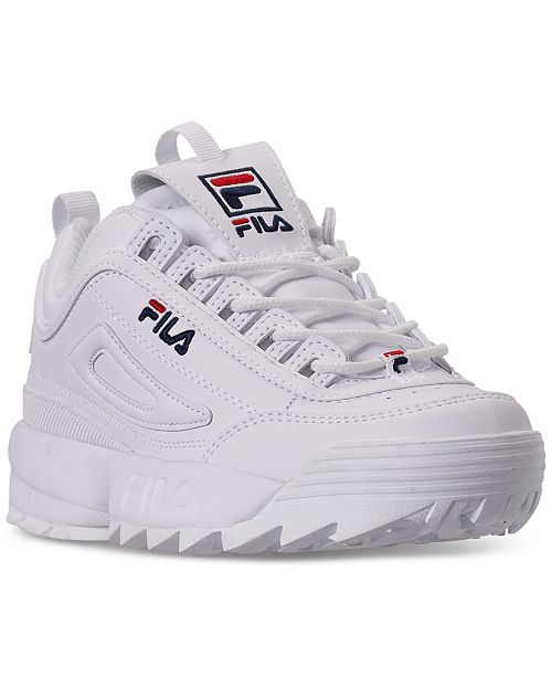 Fila Boys' Disruptor II Casual Athletic Sneakers from Finish Line .