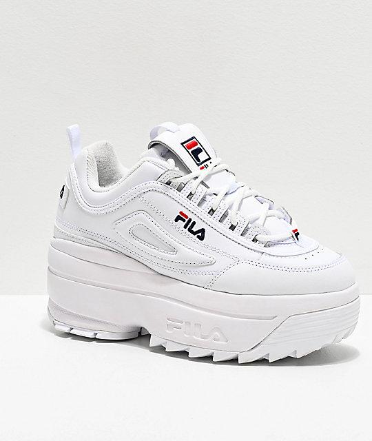 Fila Disruptor II White Super Platform Shoes | Zumi