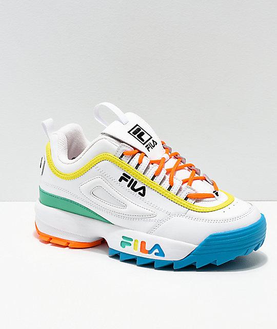 FILA Disruptor Multicolor & White Shoes | Zumi