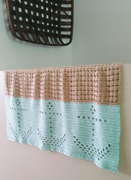Nautical Filet Crochet Blanket - Cashmere Dandelio