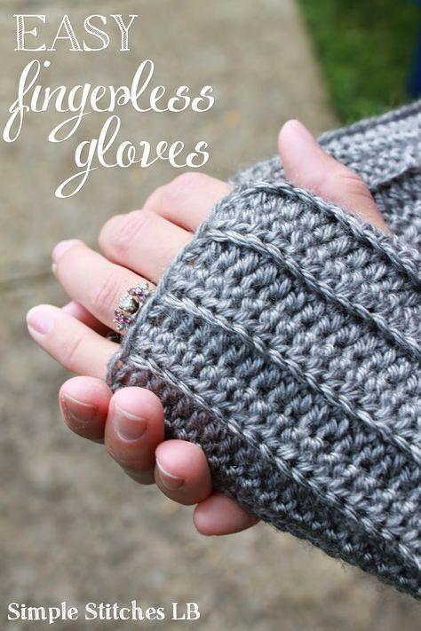 Free Pattern: Easy Ribbed Fingerless Gloves | Fingerless gloves .