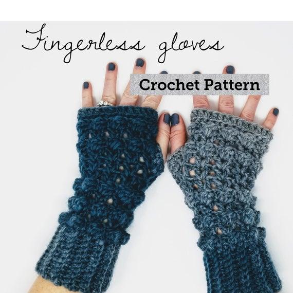 CROCHET PATTERN Easy Fingerless Gloves Pattern Fingerless | Et