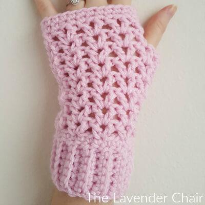 Valerie's Fingerless Gloves Crochet Pattern - The Lavender Cha