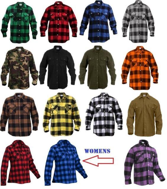 3x Men's C.e. Schmidt Workwear Warm Heavyweight Flannel Shirt Blue .