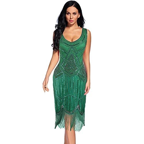 Green Flapper Dress: Amazon.c