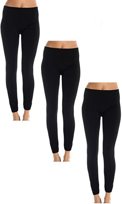 Womens Leggings Fleece Lined, Leg Warmers Black (3 Pack) at Amazon .