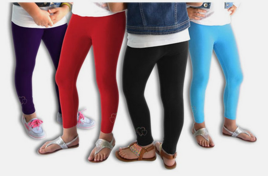 3 Pairs of Girls' Fleece-Lined Warm Leggings for $13.98 shipped .