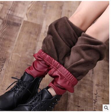 Winter Girl Wool Leggings girls Fleece Leggings Plush Leather .