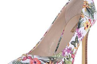 Amazon.com | GUESS Women's Eloy Floral Pump, 10 B(M) US | Pum