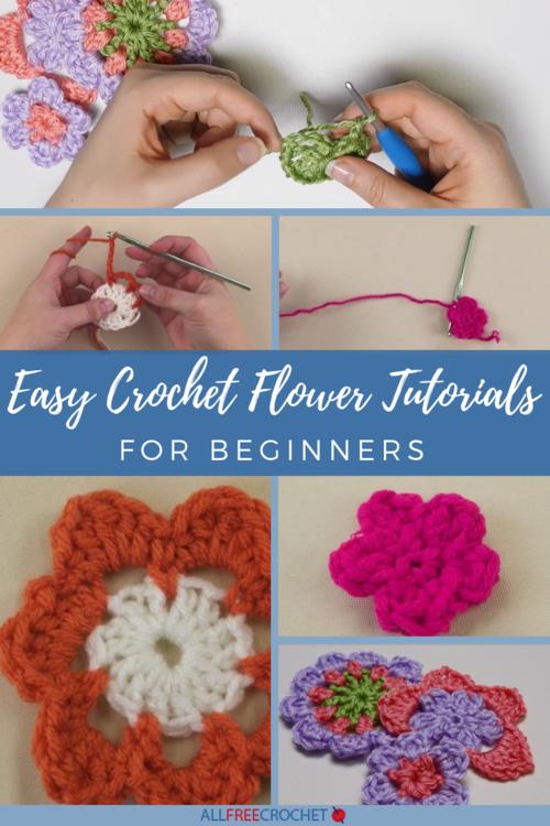 3+ Easy Crochet Flower Tutorials for Beginners | AllFreeCrochet.c
