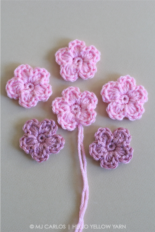 Simple Crochet Flower – Pattern and Tutori