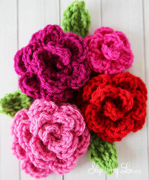 40 crochet flowers and what to do with them - Mollie Mak