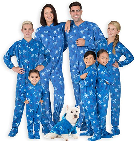Amazon.com: Footed Pajamas - Family Matching Snow Blizzard Day .