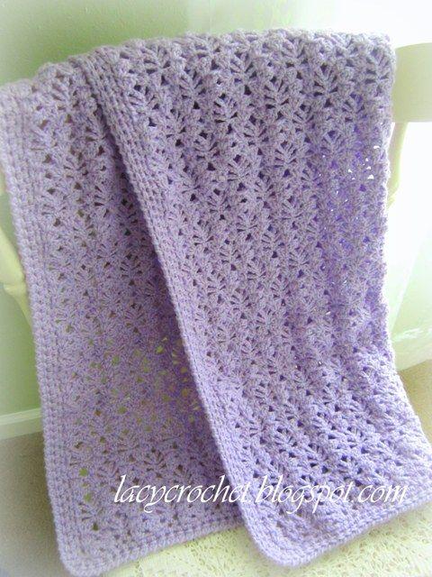 Lacy Crochet: Lacy Baby Blanket, Free Pattern. Pretty blanket .