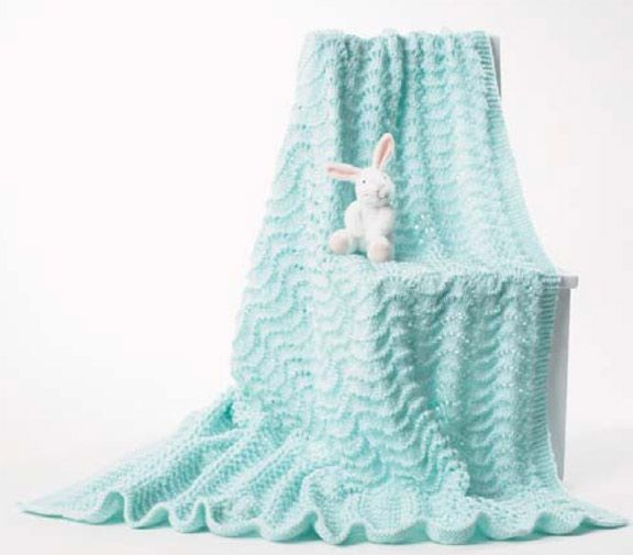 Mary Maxim - Free Baby Blanket Knit Patte