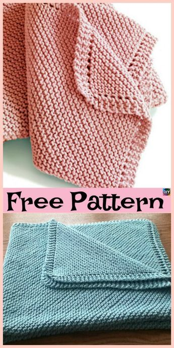 10 Easiest Knit Baby Blanket Free Patterns | Easy knit baby .