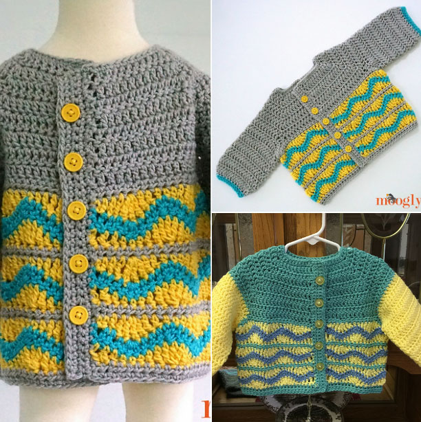 Greyson Baby Cardigan Free Baby Crochet Pattern ⋆ Free Baby Croch