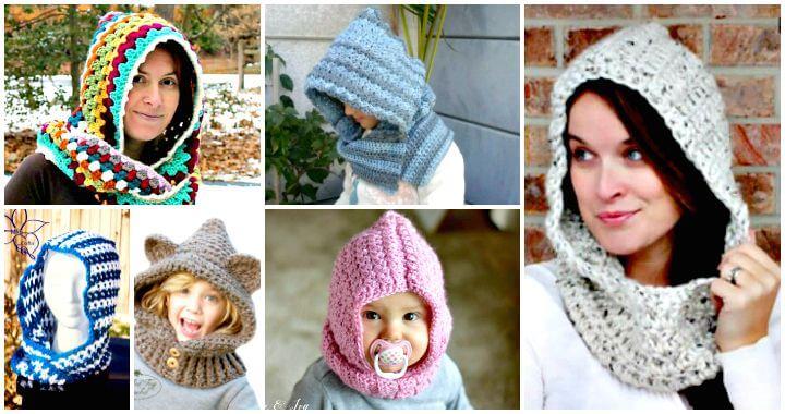 28 Free Crochet Hooded Cowl Patterns ⋆ DIY Craf