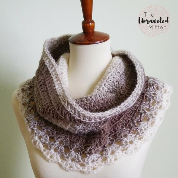 Petoskey Lace Cowl: Free Crochet Pattern | The Unraveled Mitt