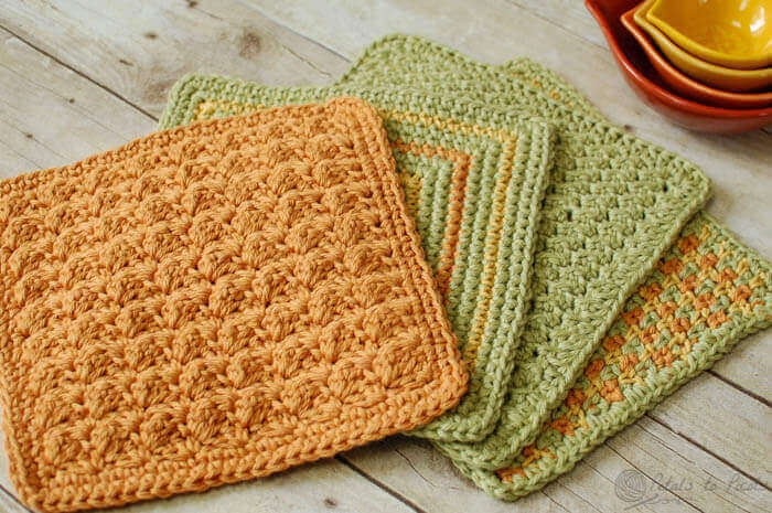 4 Quick and Easy (and free!) Crochet Dishcloth Patter