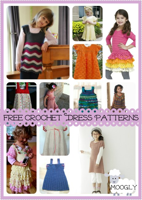 Sweet and Swirly: 12 Free Crochet Dress Patterns for Gir