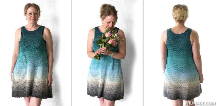 Simple Collar Dress - free crochet dress pattern by Wilma