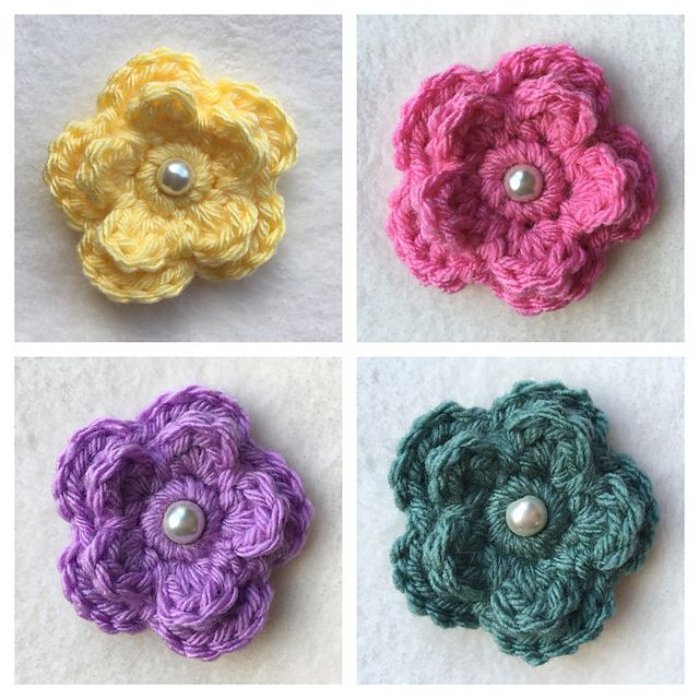 16 Free Crochet Flower Patter