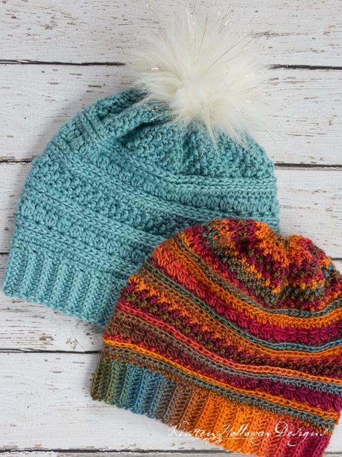 Serendipity Slouch Free Crochet Hat Pattern For Women - Kirsten .