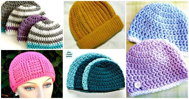 16 Free Crochet Cap Patterns / Crochet Hat ⋆ DIY Craf
