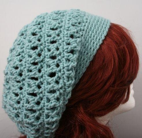 Free Crochet Slouch Hat Pattern | ... Slouch Slouchy Hat - Sea .