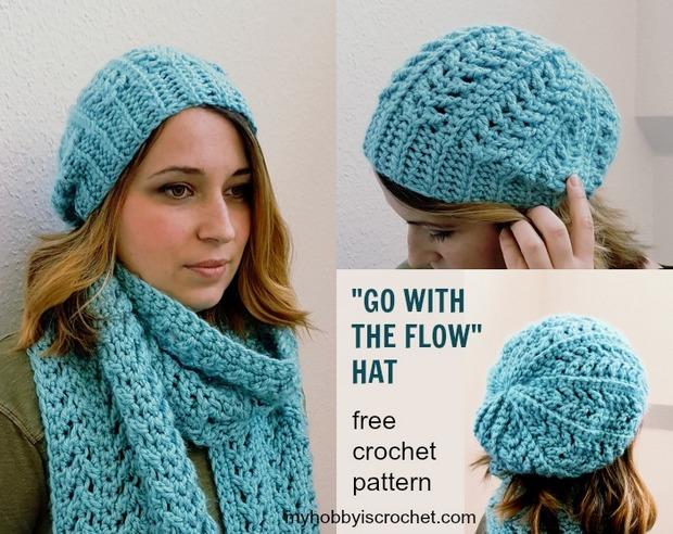 FREE Patterns] Stylish Chunky Yarn Crochet Hat and Matching Super .
