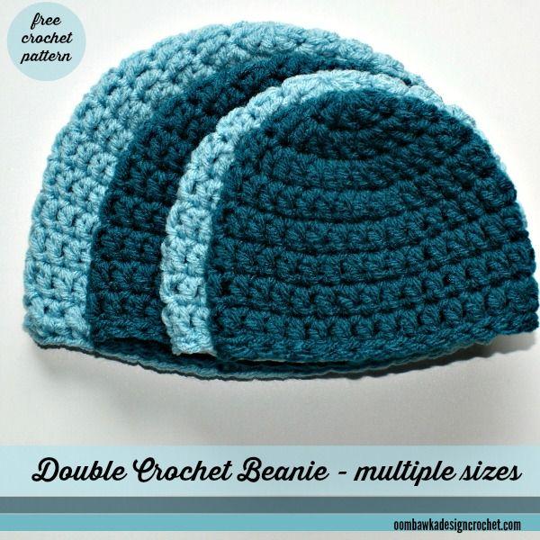 Simple Double Crochet Hat - A Free Crochet Pattern | Easy crochet .