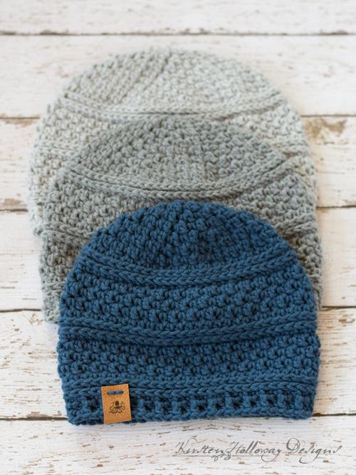 Seed Stitch Beanie Crochet Hat Pattern - Kirsten Holloway Desig
