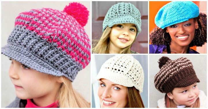 15 Free Crochet Newsboy Hat Patterns ⋆ DIY Craf