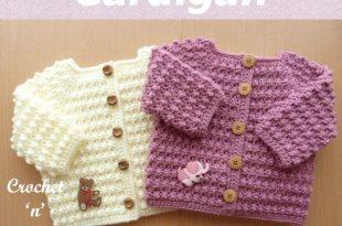 Knobbly baby cardi Free Crochet Pattern   Crochet baby sweater .