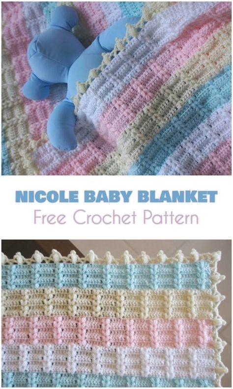 How How to Crochet Baby Blanket Soft Rainbow | Baby blanket .