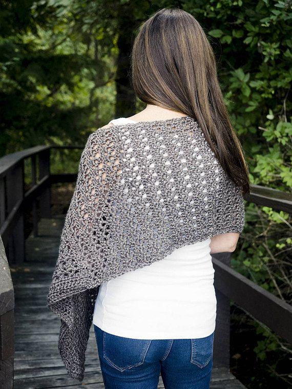 Easy Crochet Poncho Pattern | Asymmetrical Poncho Crochet Pattern .