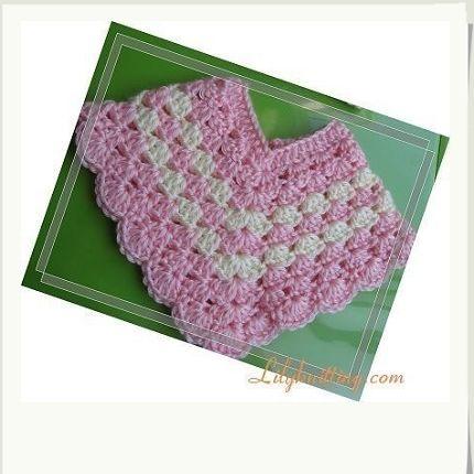 Crochet Baby Poncho Pattern | BABY CROCHETED PATTERN PONCHO .