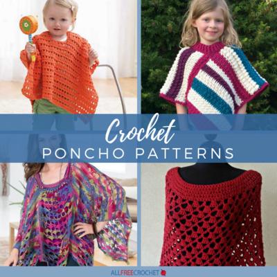 65+ Crochet Poncho Patterns | AllFreeCrochet.c