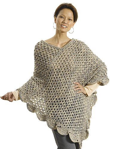 Perfect beginner crochet poncho: free pattern | Crochet poncho .