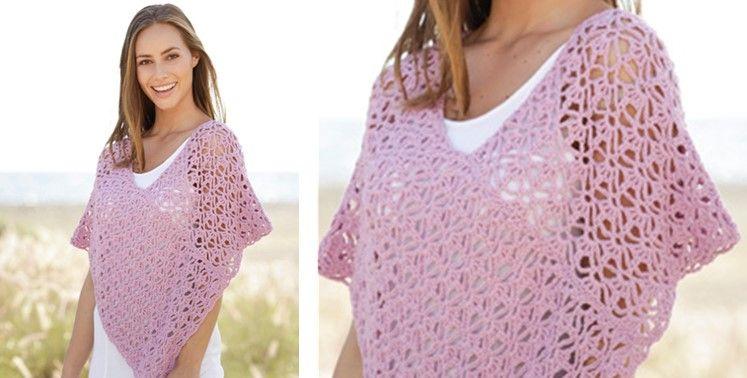 Arabella Crocheted Lace Poncho [FREE Crochet Pattern] | Crochet .