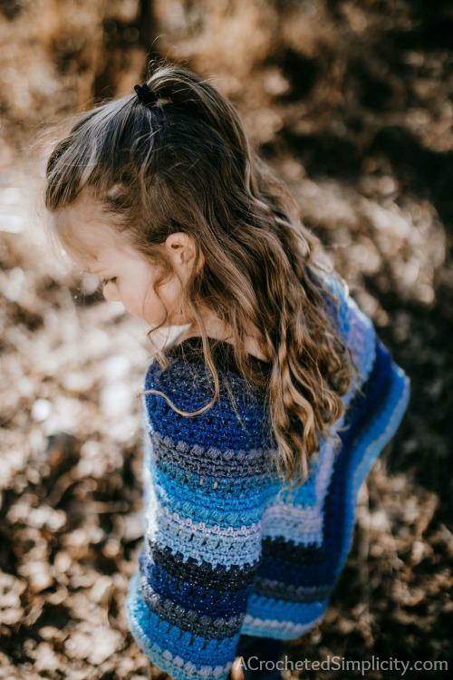 Wasilla Poncho for Girls - Free Crochet Poncho Pattern - A .