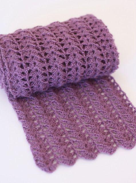 Crocheted Scarf {Free Pattern | Crochet scarf pattern free, Scarf .