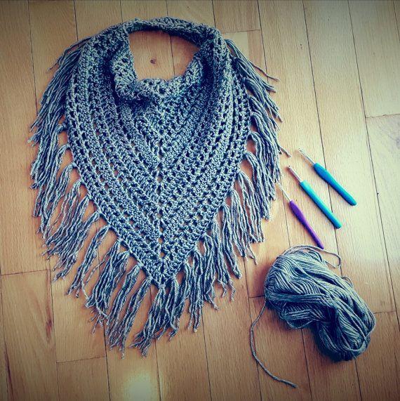 Cute free crochet triangle scarf patterns scarf pattern, fringed .