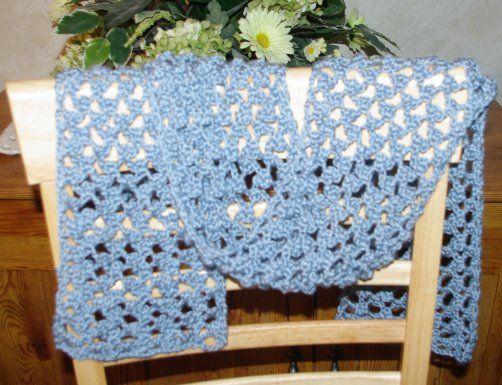 Lacy Summer Scarf: Free #crochet pattern | Scarf crochet pattern .